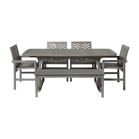 Walker Edison Acacia 6-pc. Patio Dining Set