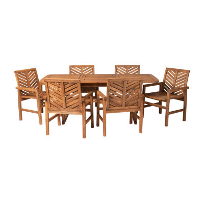 Walker Edison Acacia 7-pc. Patio Dining Set