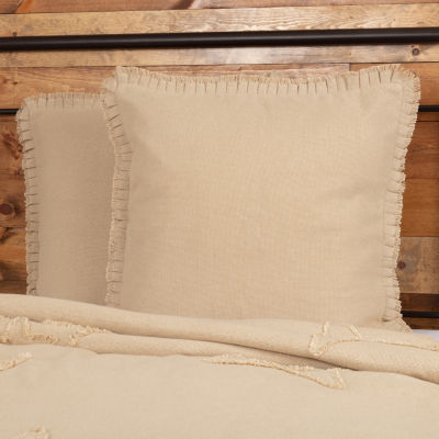 Ashton And Willow Veranda Burlap Natural Reversible Euro Sham