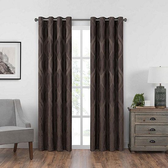 Eclipse Caprese Light-Filtering Grommet-Top Single Curtain Panel