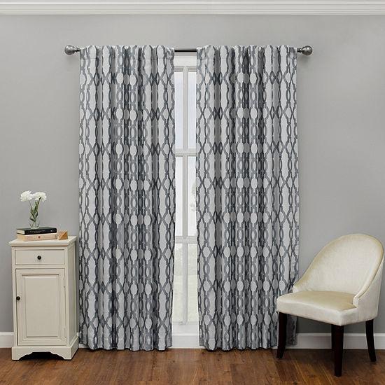 Eclipse Dixon Blackout Rod-Pocket Curtain Panel