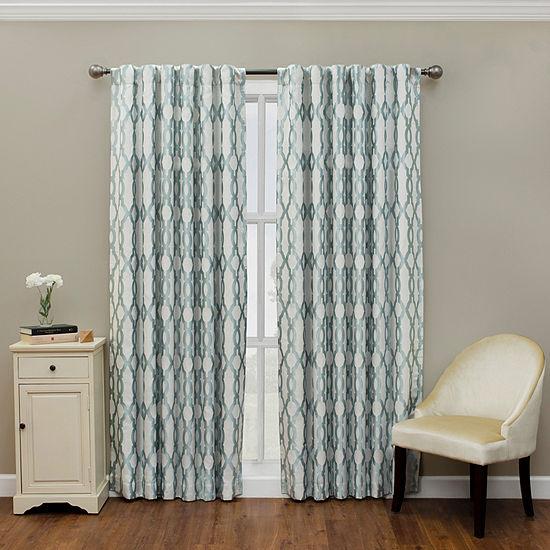 Eclipse Dixon Blackout Rod-Pocket Single Curtain Panel