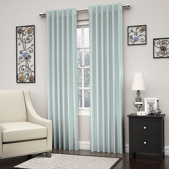 Eclipse Dutton Blackout Rod-Pocket Curtain Panel