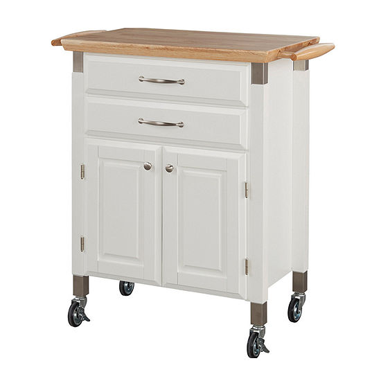 Home Styles Wood-Top Kitchen Cart