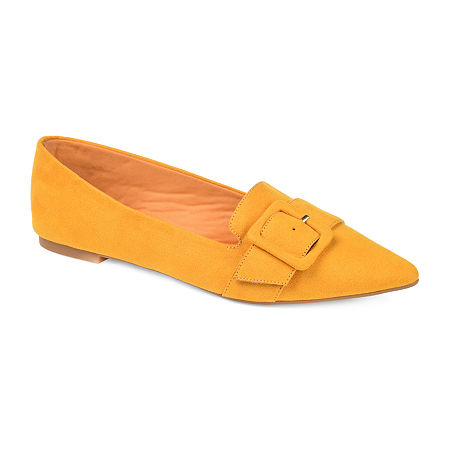 Retro Vintage Flats and Low Heel Shoes Journee Collection Womens Audrey Slip-on Pointed Toe Loafers 8 12 Medium Yellow $41.99 AT vintagedancer.com