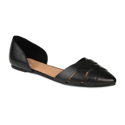 Journee Collection Womens Brandee Slip-on Pointed Toe Ballet Flats