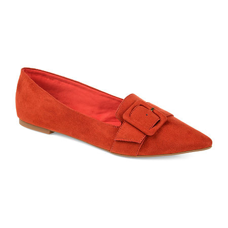 Retro Vintage Flats and Low Heel Shoes Journee Collection Womens Audrey Slip-on Pointed Toe Loafers 12 Medium Brown $41.99 AT vintagedancer.com