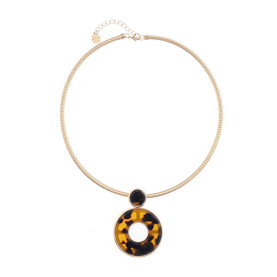 Monet Jewelry Womens Brown Pendant Necklace