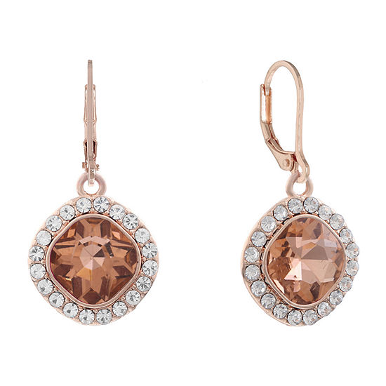 Monet Jewelry Square Drop Earrings