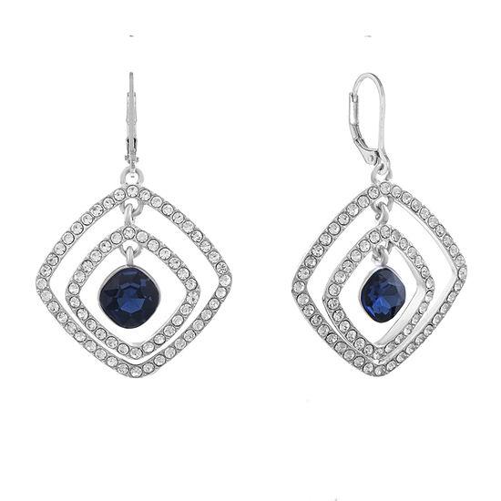 Monet Jewelry Blue Square Drop Earrings