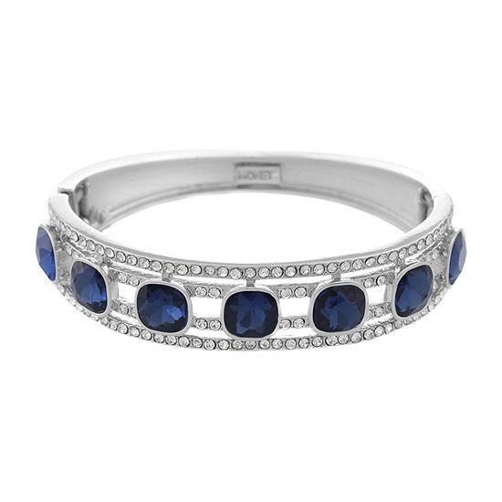 Monet Jewelry Blue Square Stretch Bracelet