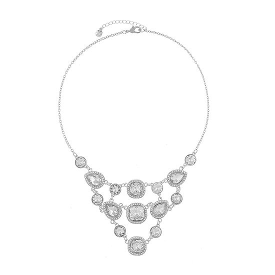 Monet Jewelry Womens Simulated Square Collar Necklace