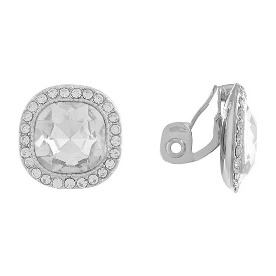 Monet Jewelry Square Clip On Earrings