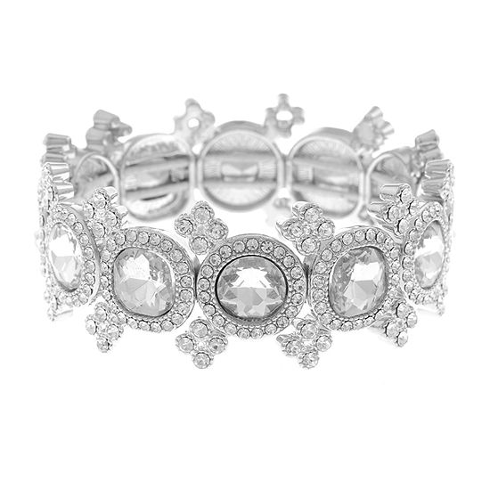 Monet Jewelry Simulated Square Stretch Bracelet