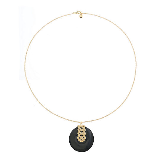 Monet Jewelry 90th Anniversary Black 32 Inch Rope Round Pendant Necklace