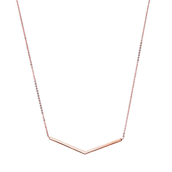 Womens 10K Rose Gold Pendant Necklace