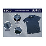 IZOD Adaptive Boys Point Collar Short Sleeve Polo Shirt Preschool / Big Kid