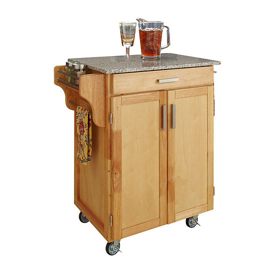 Home Styles Slate-Top Kitchen Cart