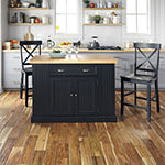 Home Styles Wood-Top Kitchen Island Set