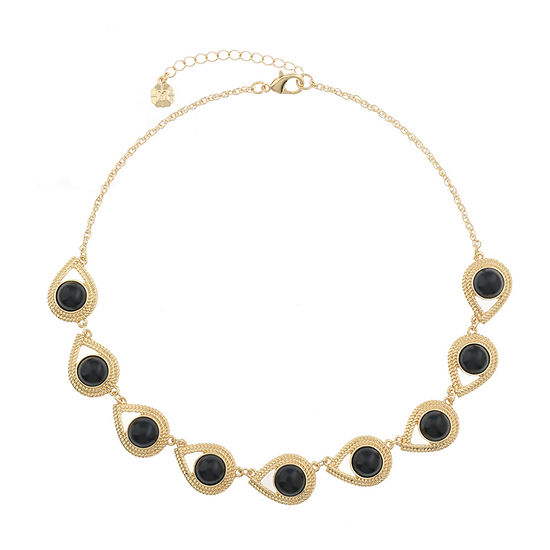 Monet Jewelry 90th Anniversary Black 17 Inch Rope Round Collar Necklace