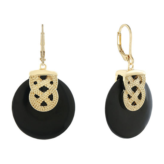 Monet Jewelry Simulated Black Round Drop Earrings