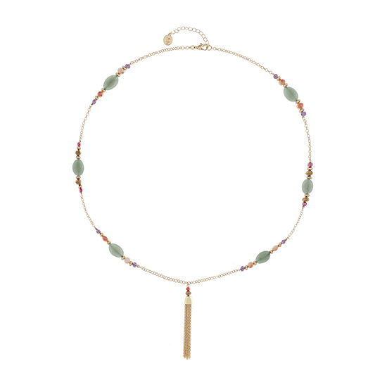 Liz Claiborne Multi Color 30 Inch Cable Round Pendant Necklace