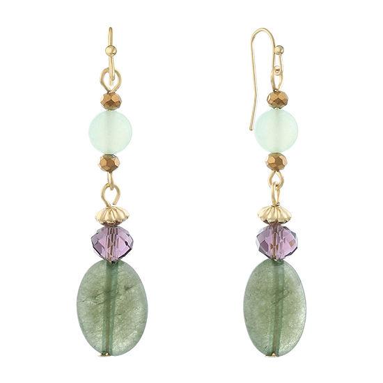 Liz Claiborne Multi Color Oval Drop Earrings
