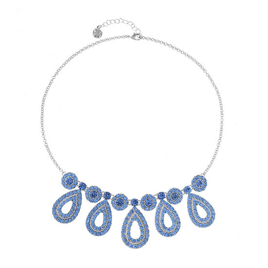Monet Jewelry Blue 18 Inch Cable Round Collar Necklace