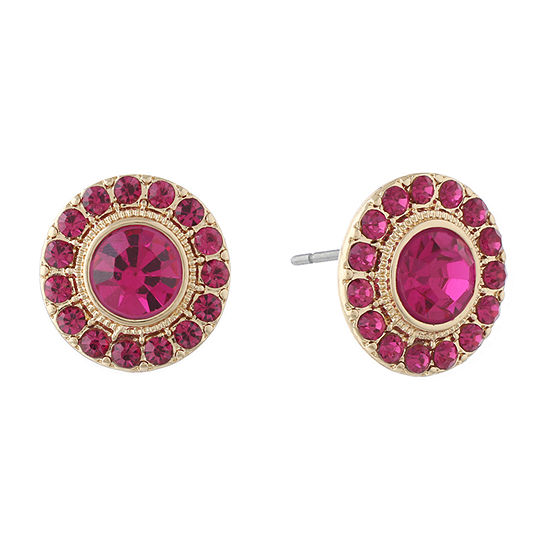 Monet Jewelry Simulated Pink 17.6mm Round Stud Earrings