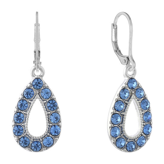 Monet Jewelry Simulated Blue Round Drop Earrings