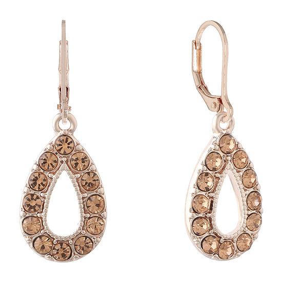 Monet Jewelry Orange Round Drop Earrings