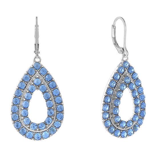 Monet Jewelry Blue Round Drop Earrings