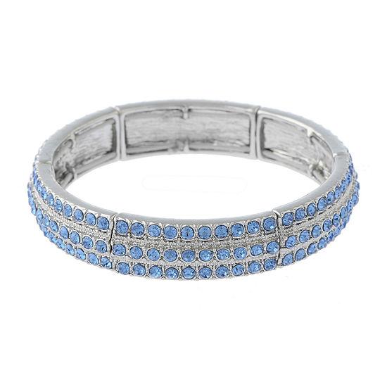 Monet Jewelry Blue Round Stretch Bracelet