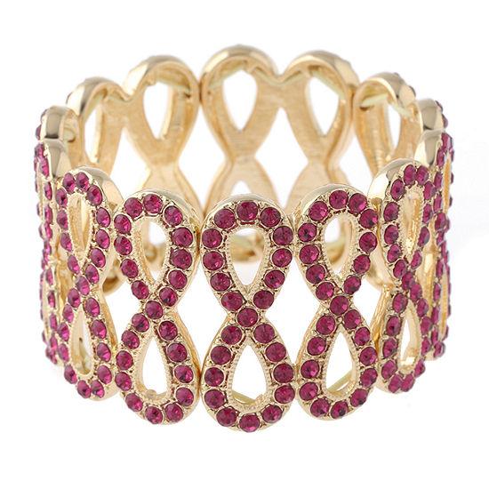 Monet Jewelry Pink Round Stretch Bracelet