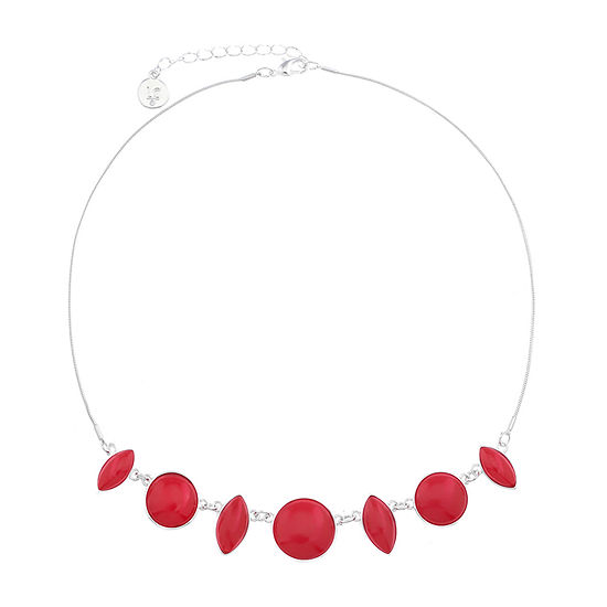 Liz Claiborne Red 17 Inch Snake Collar Necklace