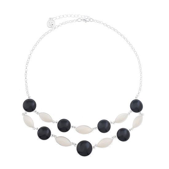 Liz Claiborne Multi Color 17 Inch Cable Collar Necklace
