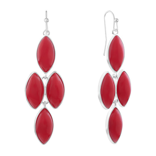 Liz Claiborne Red Chandelier Earrings