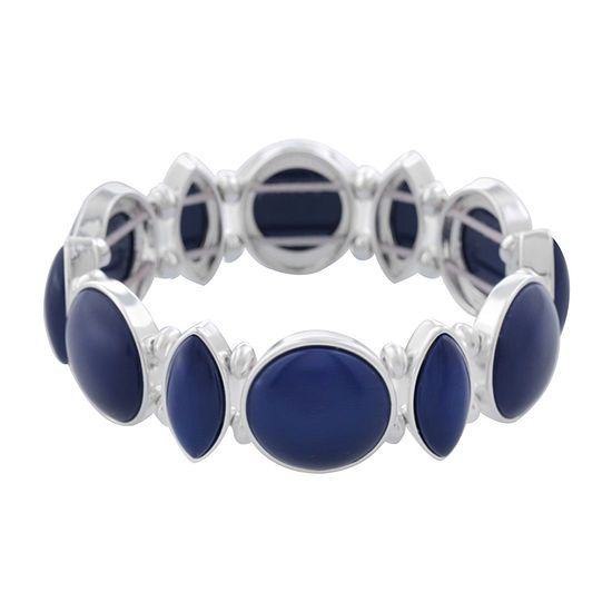 Liz Claiborne Simulated Blue Stretch Bracelet