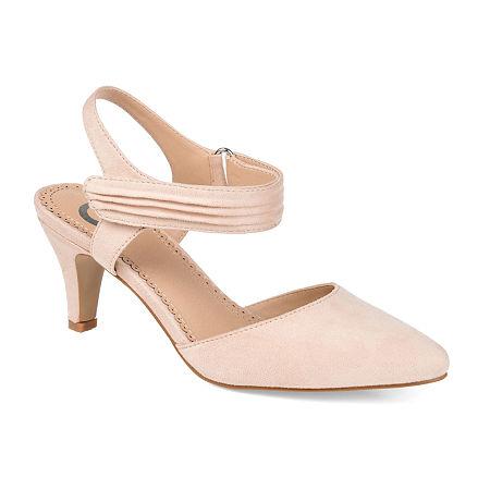 Journee Collection Womens Joni Pumps Block Heel, 11 Medium, Beige