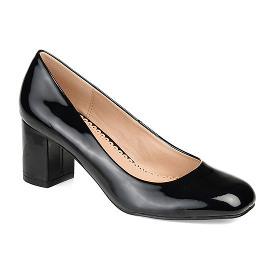 Journee Collection Womens Miranda Pumps Slip-on Square Toe Block Heel