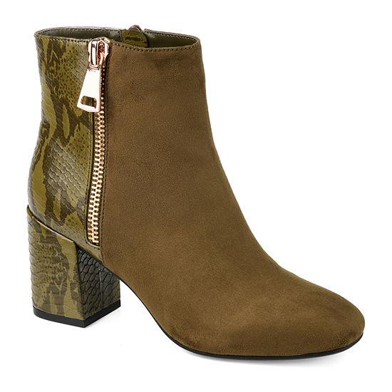 Journee Collection Womens Sarah Block Heel Booties
