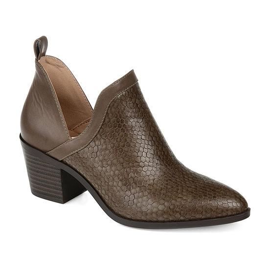 Journee Collection Womens Terri Stacked Heel Booties