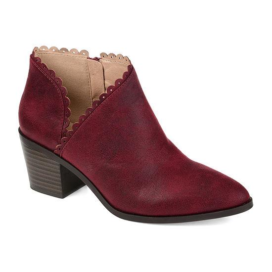 Journee Collection Womens Tessa Stacked Heel Booties