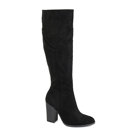 Journee Collection Womens Kyllie Wide Calf Stacked Heel Dress Boots
