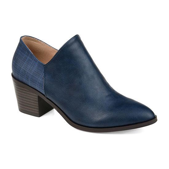 Journee Collection Womens Adison Stacked Heel Booties