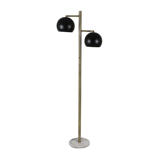 Decor Therapy Steel Floor Lamp Color Brass And Marble Jcpenney