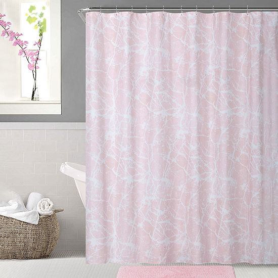 Crackle Shower Curtain Set