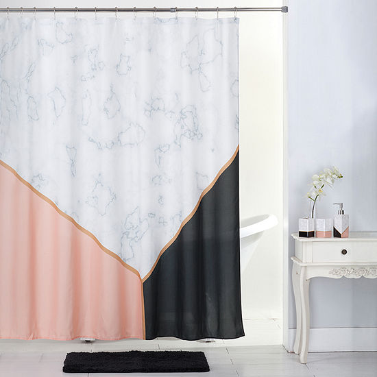 Marble Shower Curtain Set