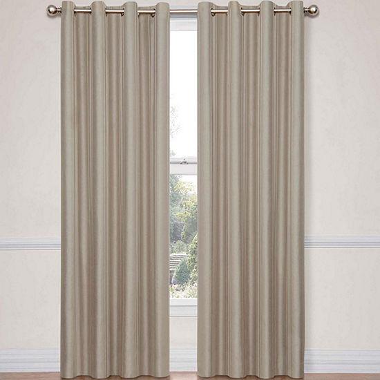 Eclipse Energy Saving Blackout Grommet-Top Single Curtain Panel