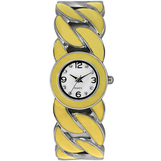 Womens Colorful Twist Bangle Watch